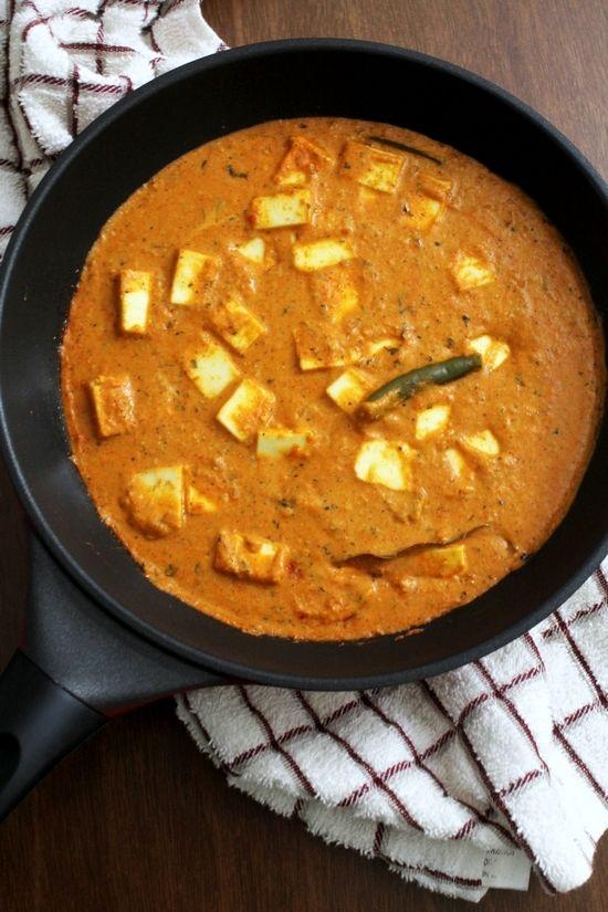 paneer lababdar recipe how to make restaurant style paneer lababdar recipe recipes paneer on hebbar s kitchen recipes paneer lababdar id=93249