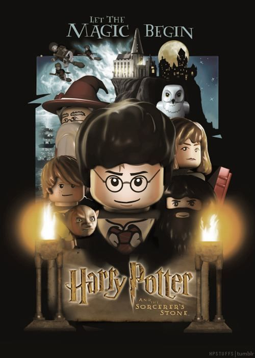 Lego Harry Potter And The Sorcerer S Stone Harry Potter Birthday Cards Harry Potter Movie Posters Harry Potter Poster