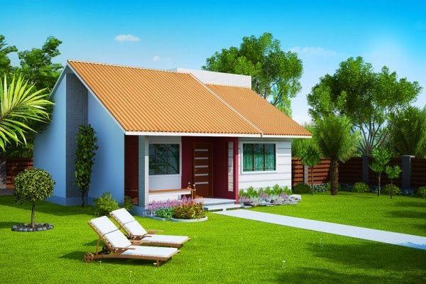 Projetos de casas modernas e baratas fachada de casa for Casas modernas y baratas