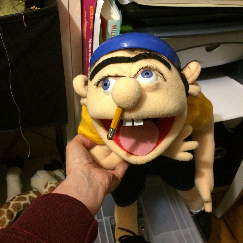 the large jeffy jeffy puppet from supermariologan youtube