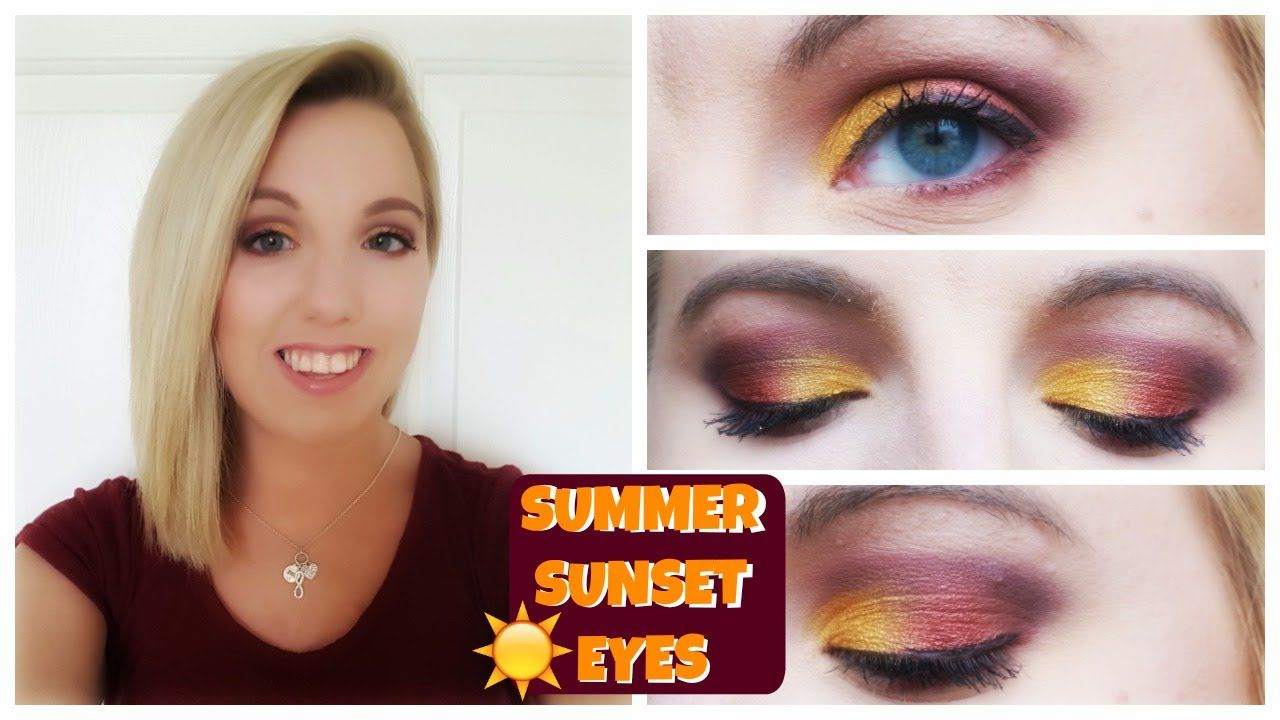 SUMMER SUNSET EYES | GET READY WITH ME | CrystalandCory