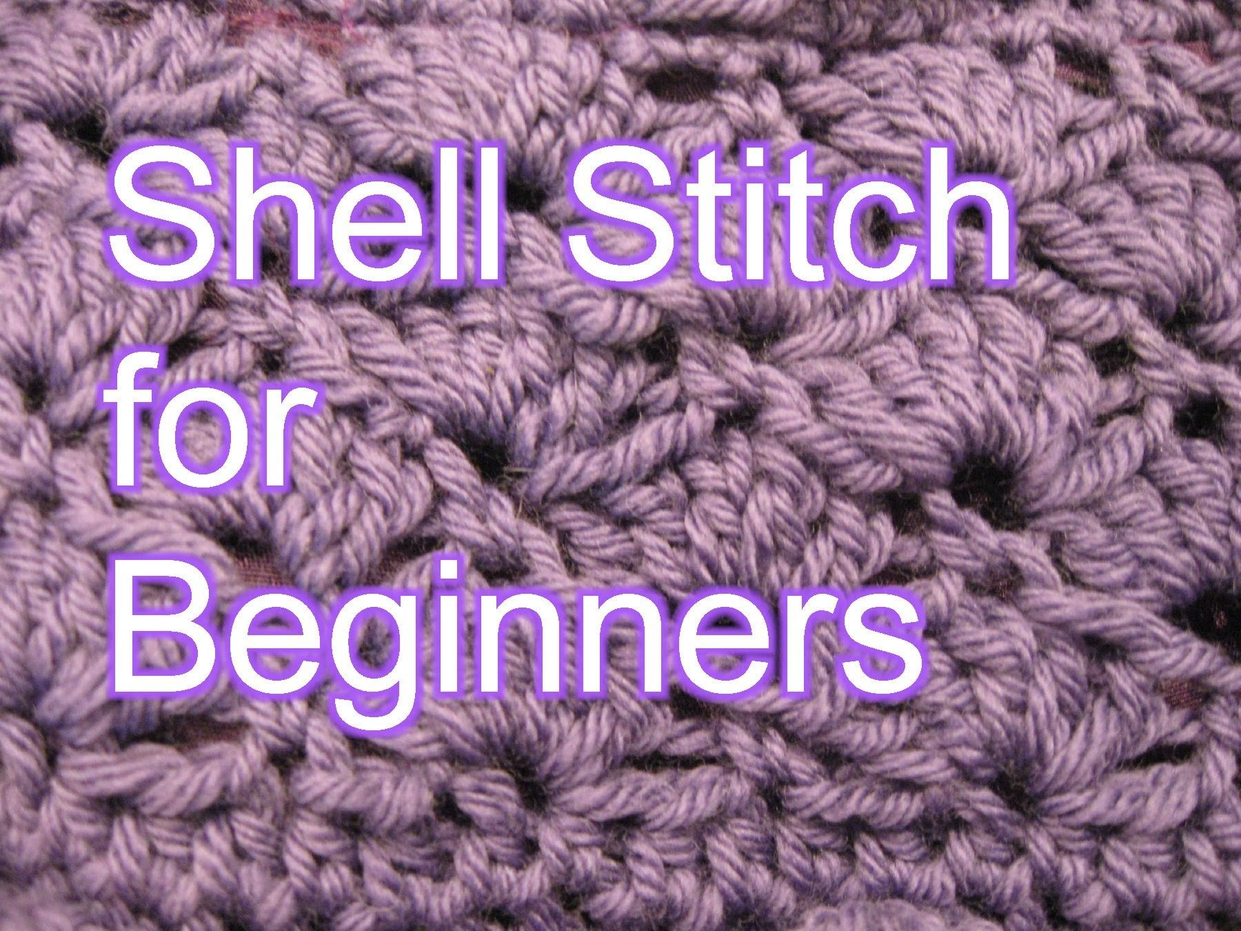 Crochet Shell Stitch - Slow Motion Crochet | Crochet ideas ...