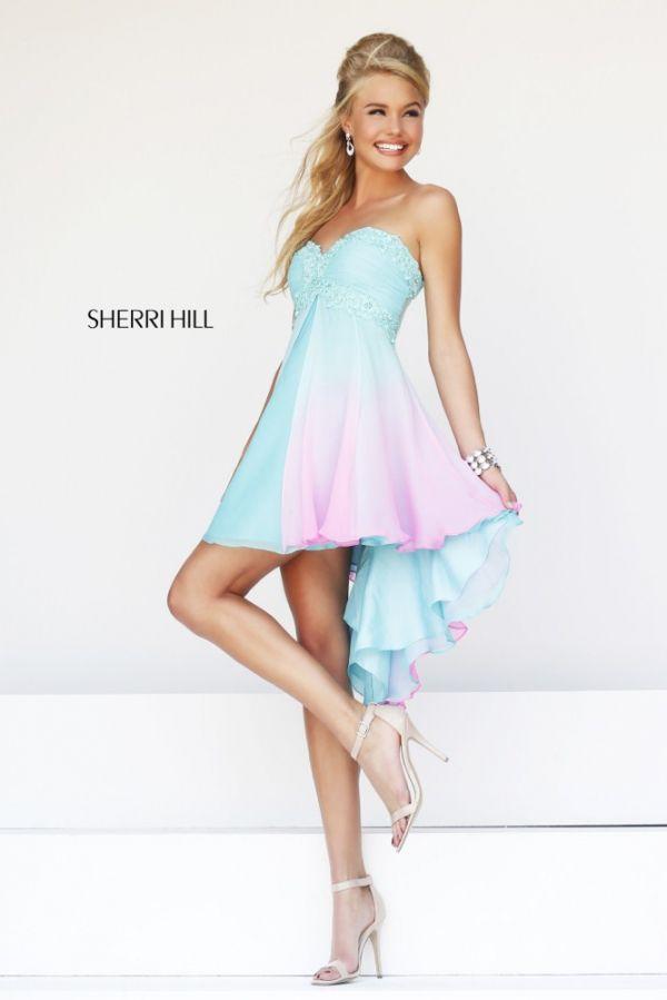 Foto 12 de 36 Vestido corto con estampado en degrade de Sherri Hill ...