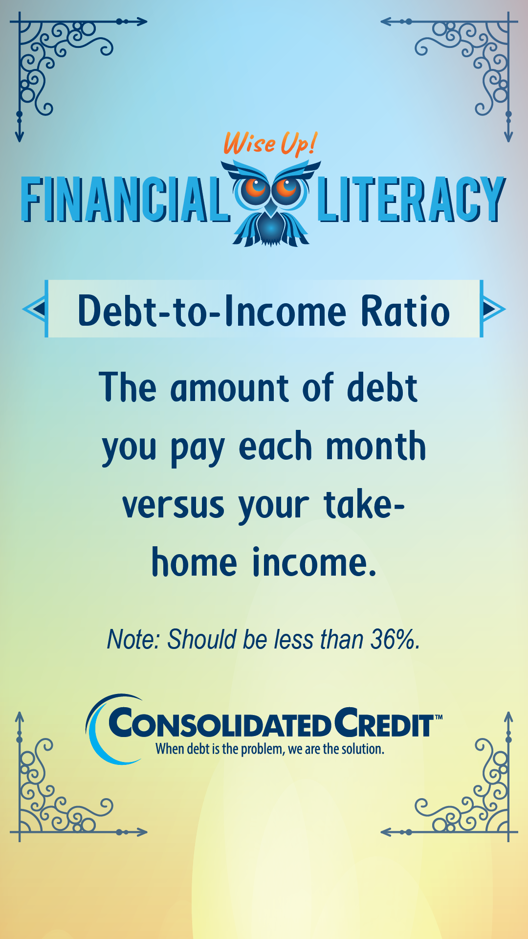 Do You Have Too Much Debt Debt To Income Ratio Financial Counseling Financial Literacy