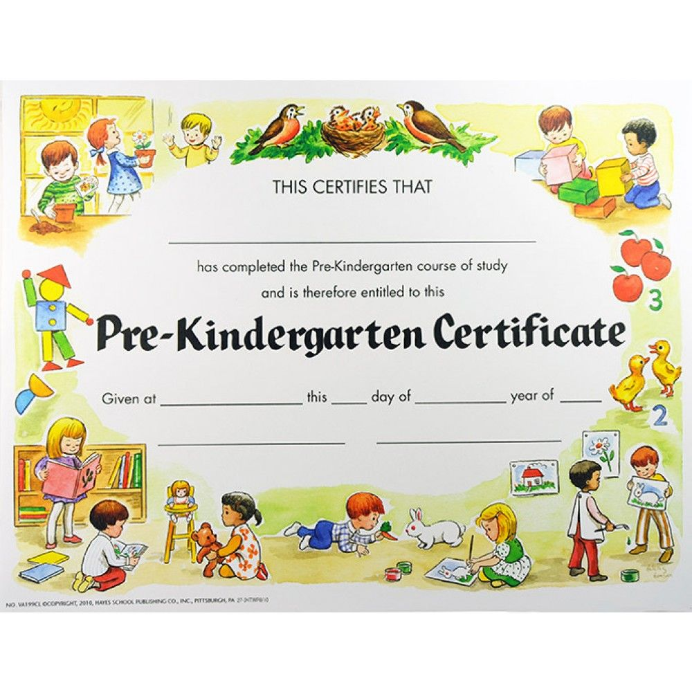 Pre-K Certificates Of Completion