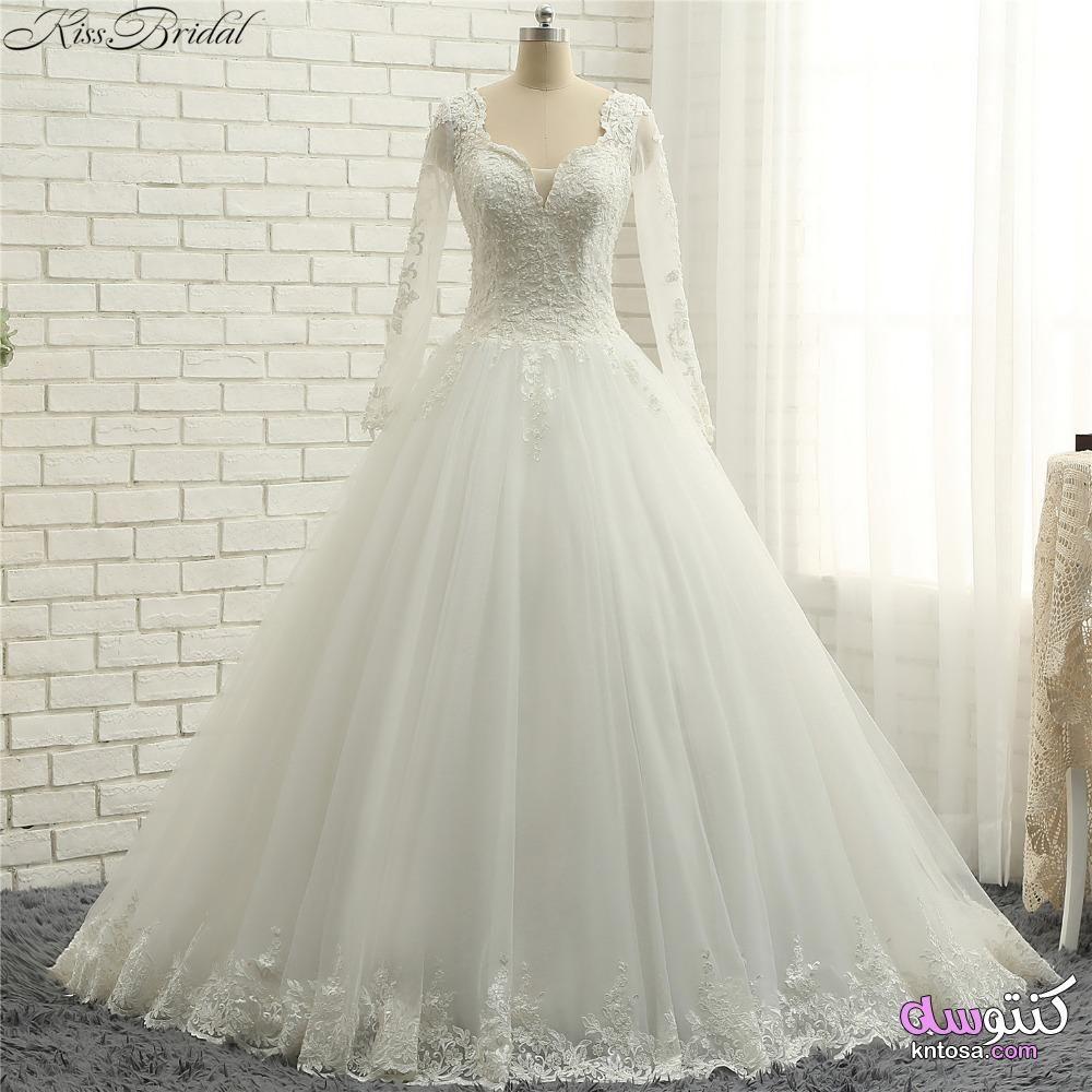 فساتين زفاف راقيه فساتين زفاف لعام 2020 فساتين منفوشه للزفاف اجدد فساتين للزفاف Kntosa Com 27 20 158 Wedding Dresses Lace Bridal Gown Dresses