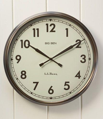 big ben wall clock wall decorations free shipping at llbean