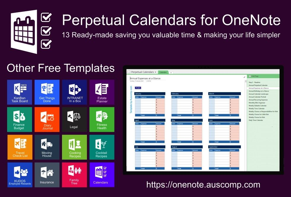 of perpetual calendars Ready made for OneNote Please share Collection of perpetual calendars Ready made for OneNote Please share Collection of perpetual calendars Ready m...