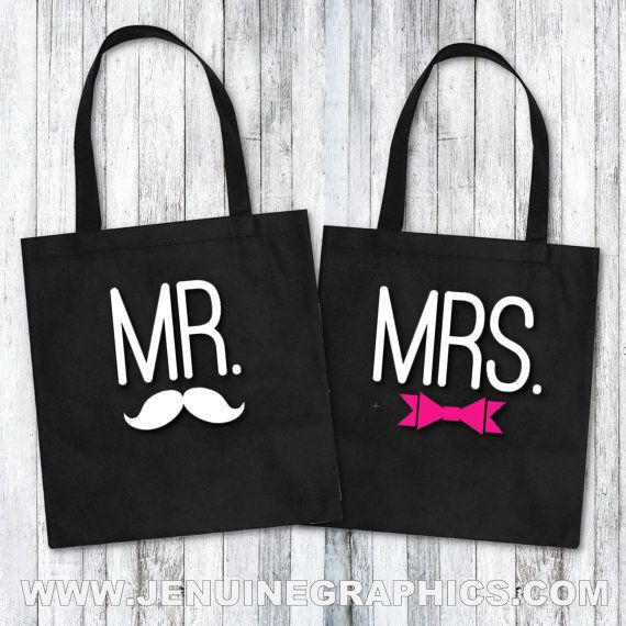 Tote Bag mr and mrs  funny tote bag funny gift idea for newly wed personalized custom order jenuine graphics