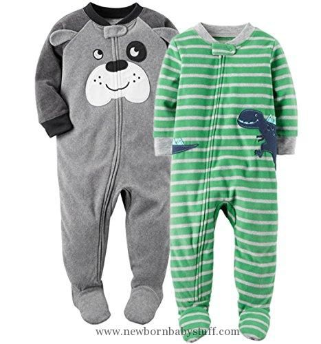 eb86eef848eb Baby Boy Clothes Carter s Baby Boys  2-Pack Fleece Pajamas (2T