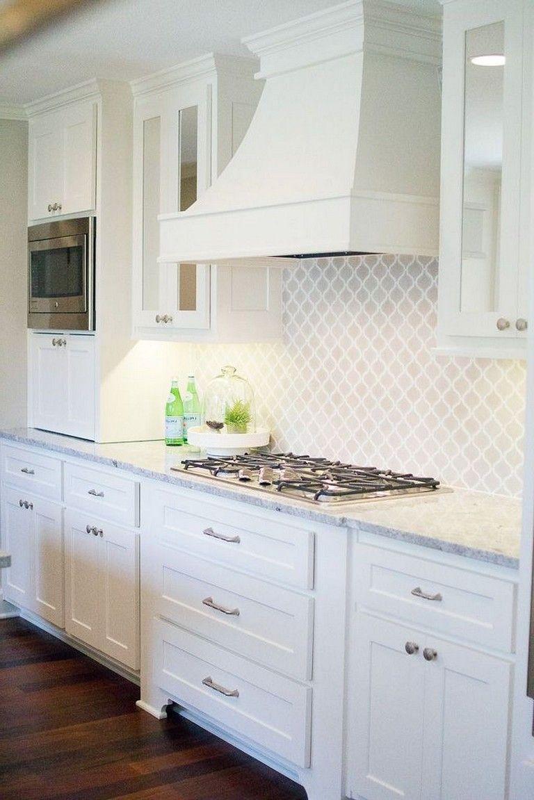 Best Modern White Kitchen Cabinets And Backsplash Design Ideas