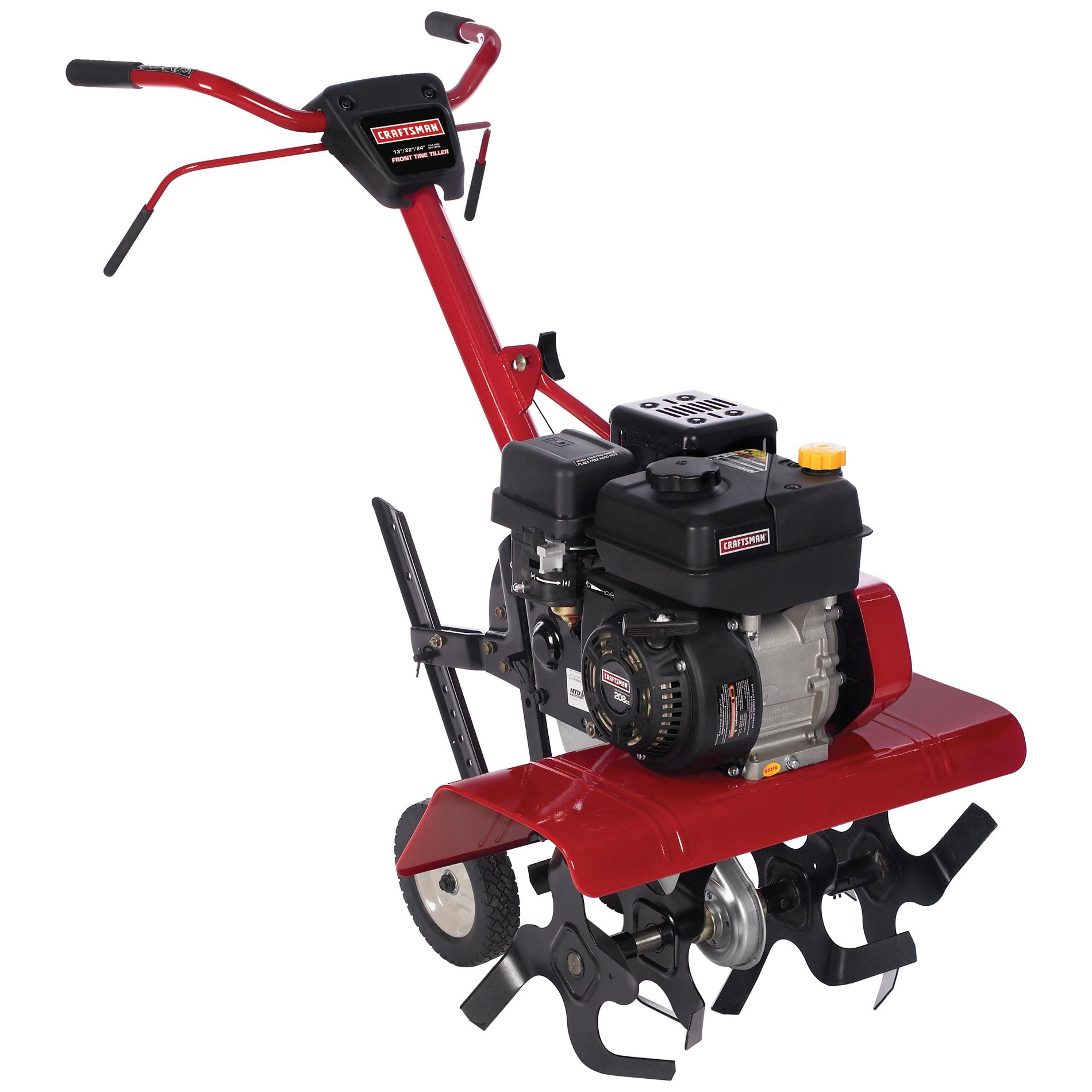 If A Machine Is Strong Enough To Break Apart Compact Soil Then It Can Certainly Hurt Your Arm Or Home Vegetable Garden Garden Tools Front Tine Tiller