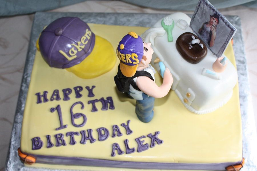 Teen Boy Cakes Teen Boys Sweet 16th Birthday Cake By Pam And