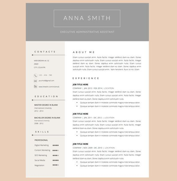 Resume Template With Cover Letter Template For Word By Pappermint