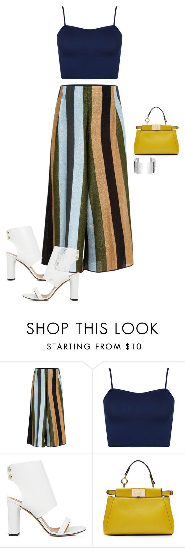 """""""Untitled #1792"""" by quaybrooks ❤ liked on Polyvore featuring Circus Hotel, WearAll, IRO, Fendi and Dinh Van"""