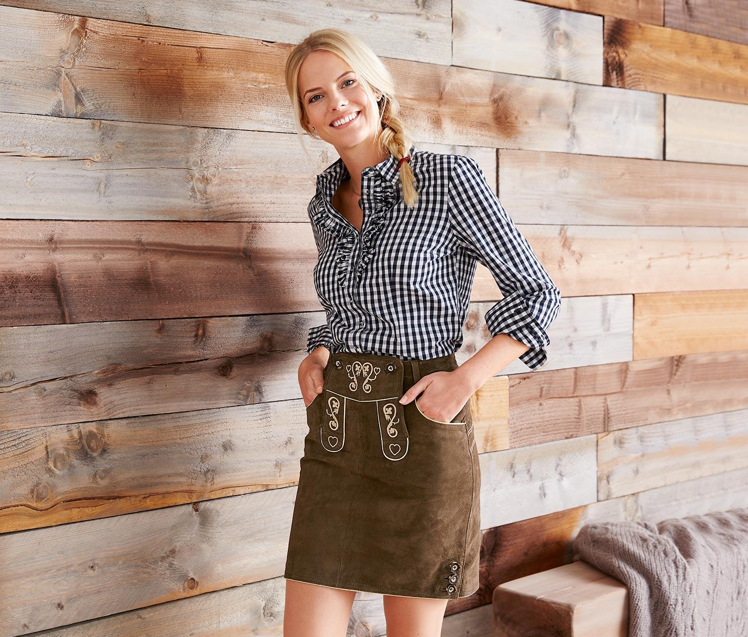 Trachten-Lederrock | Wiesn outfit, Lederrock, Oktoberfest