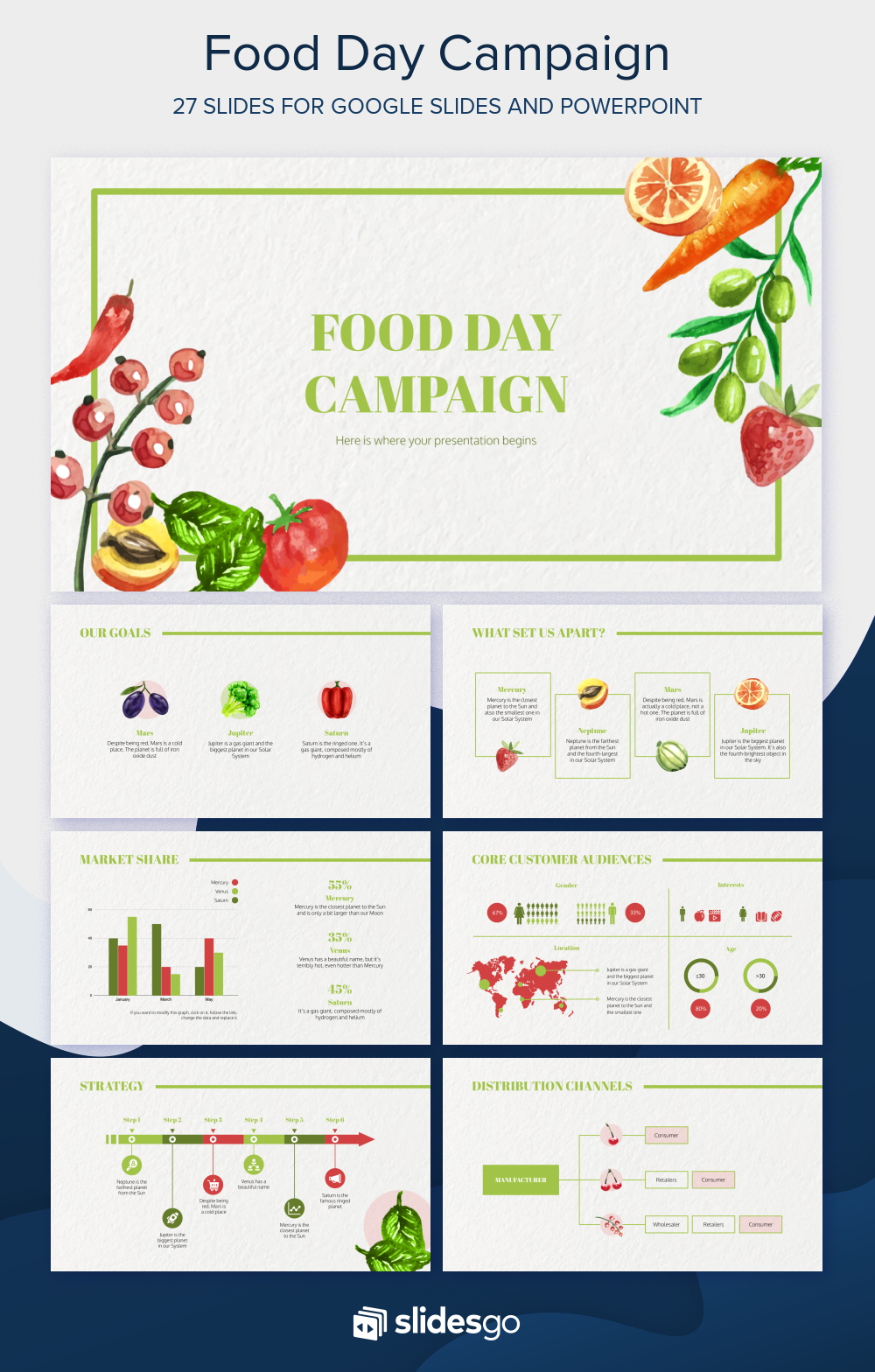 Food Day Campaign Presentation Free Google Slides theme