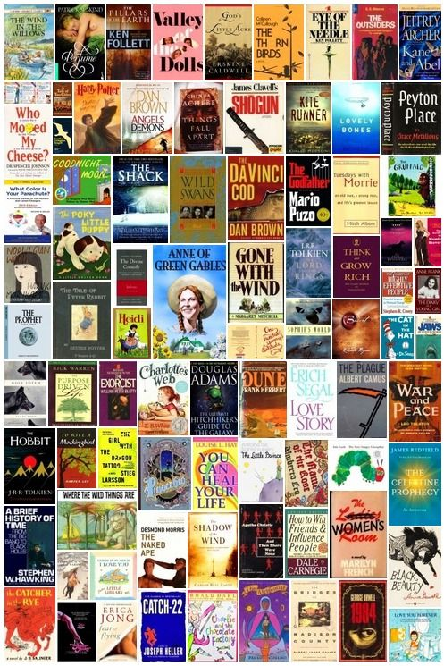 101 Best Selling Books of All Time [via Ranker com] What are