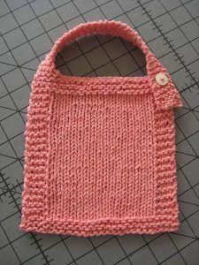Easy Peasy Baby Bib | Baby bibs patterns, Baby knitting ...
