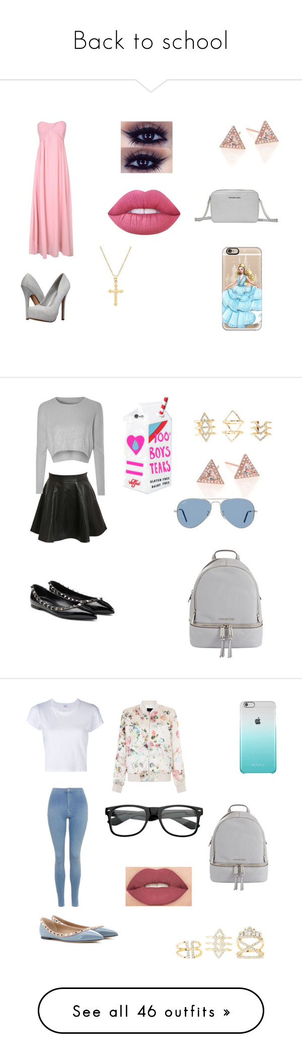"""""""Back to school"""" by junebug02 on Polyvore featuring Alice & You, EF Collection, Lime Crime, Call it SPRING, MICHAEL Michael Kors, Casetify, Pori, Pilot, Glamorous and Valentino"""