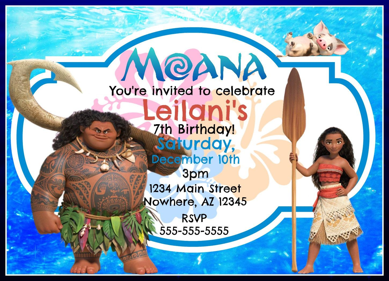 Moana Birthday Invitation by RaisedToLife on Etsy $5.50