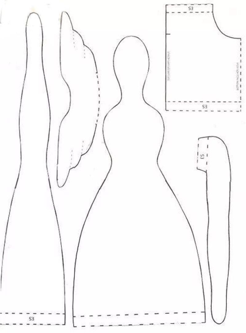 Кукла Тильда: выкройка в натуральную величину | Выкройки ...
