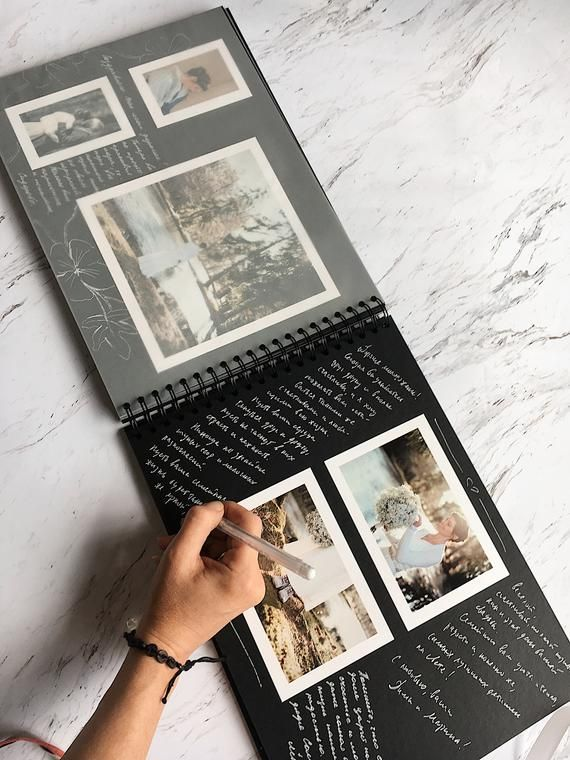 Photo Album, Create personalized photo albums, Scrapbooking, Guestbook, Polaroid Style, Photo Album for a present