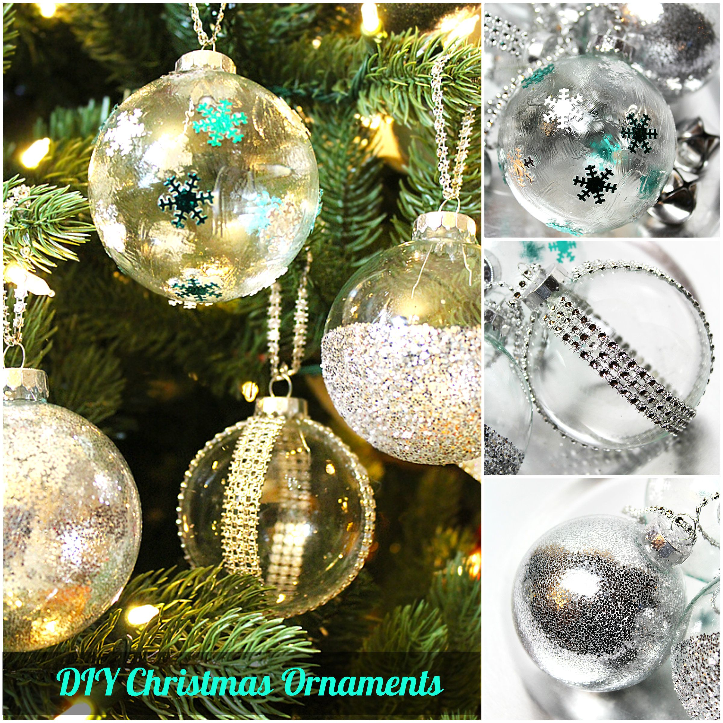 DIY Ideas to Decorate Clear Ornaments Diy christmas