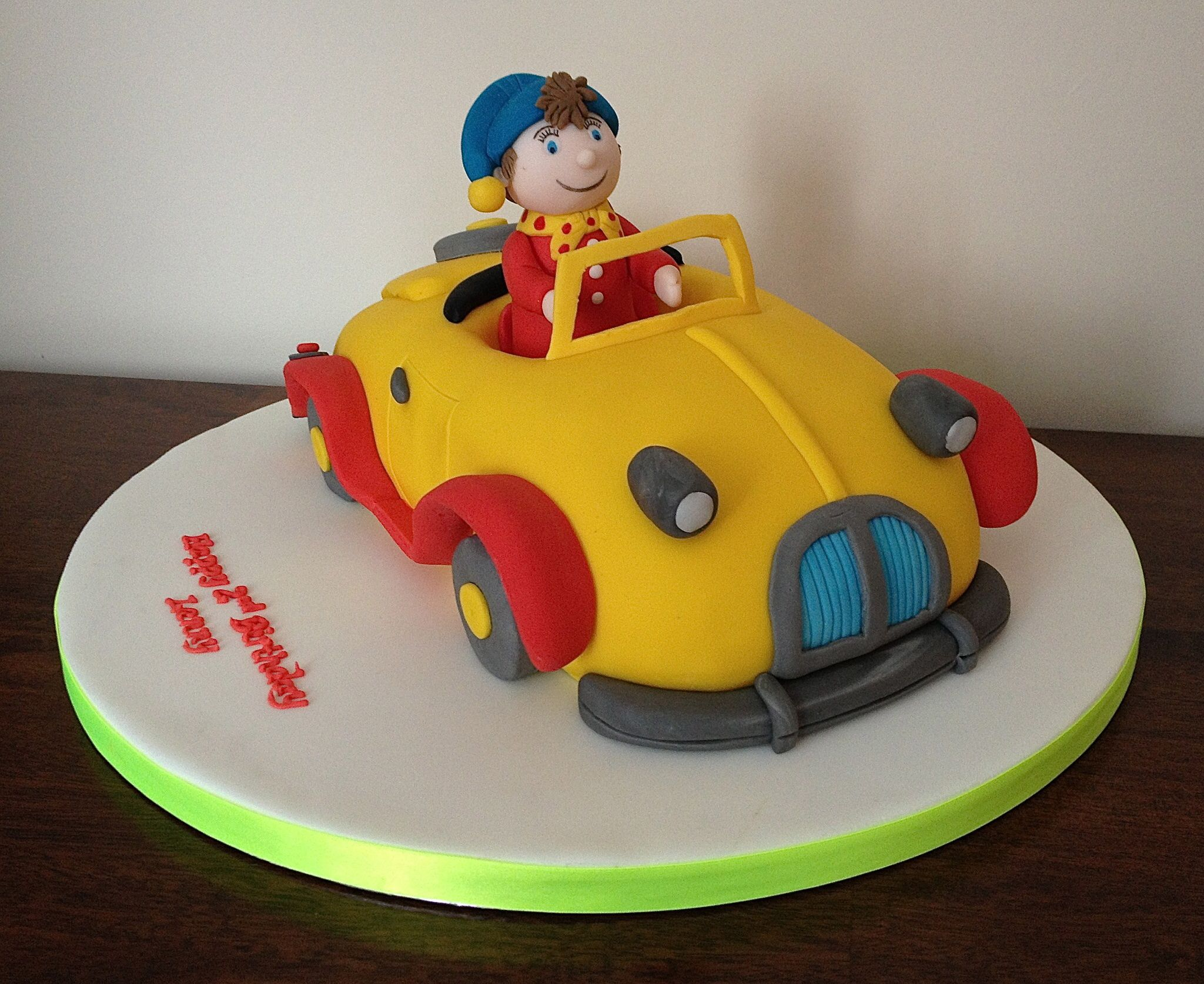 Noddy In His Car All Edible Noddy Cake 50th Birthday Cake Cake