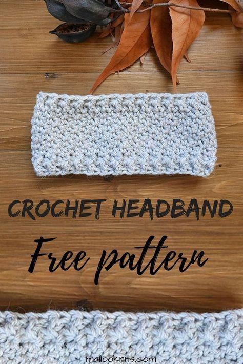 Free crochet headband pattern | Häkeln