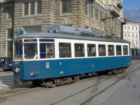 A Tram on the Trieste to Villa Opicina Tramway