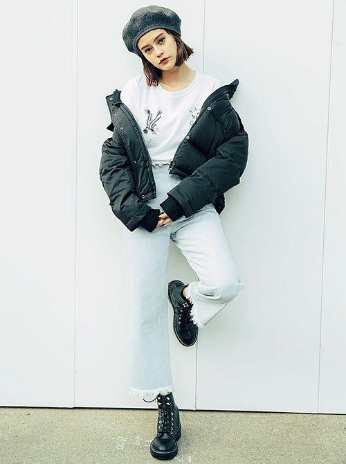 ファッション,ダウンジャケット,コート,アウター,着回し,冬