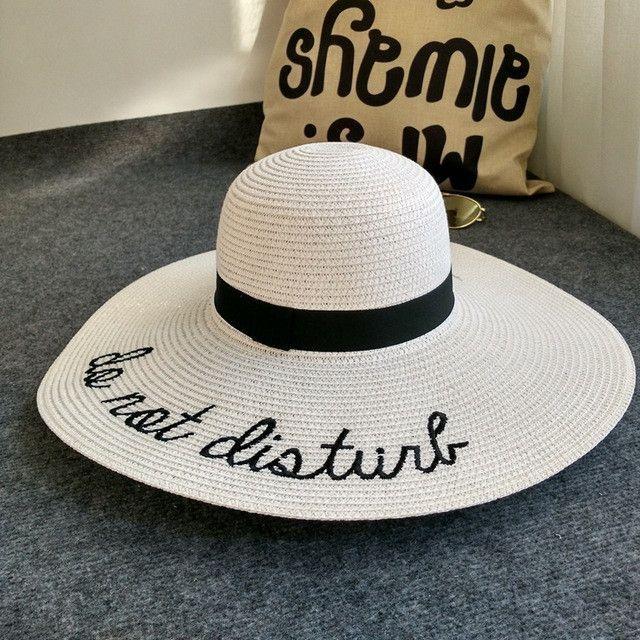 4e8aecbeccc77  Dexing do not disturb wide brim floppy foldable sun hat summer hat for  women beach straw hat ladies chapeu panama femme  HatsForWomenFloppy