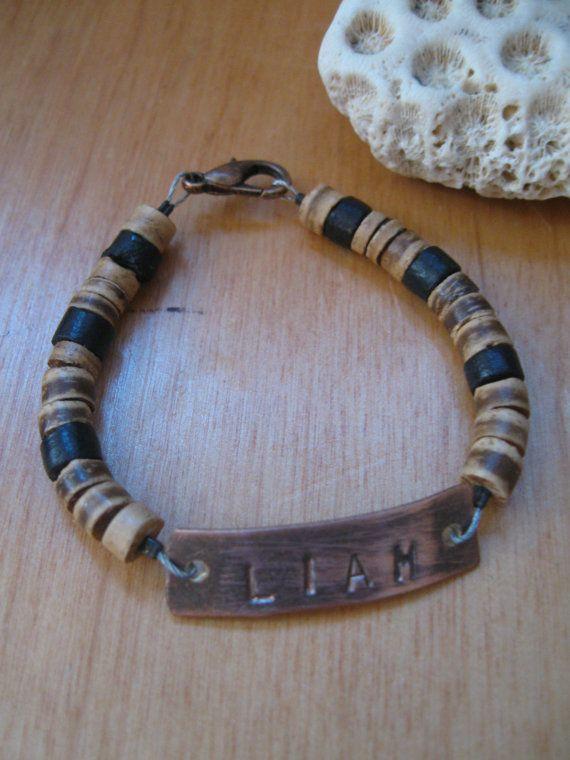 13214e33e803d1 boys bracelet personalized kids bracelet hand by JTMauiDesigns   For ...