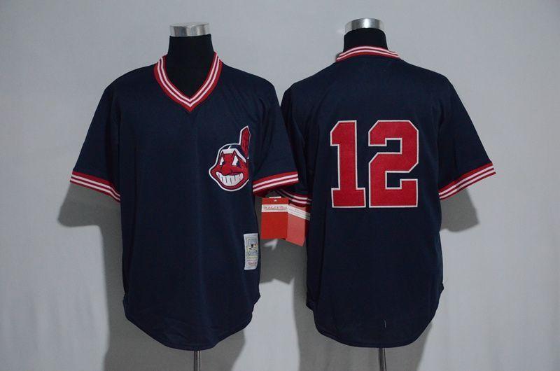 3994cb11ad3 Men Cleveland Indians 12 Francisco Lindor Blue MLB Jerseys ...