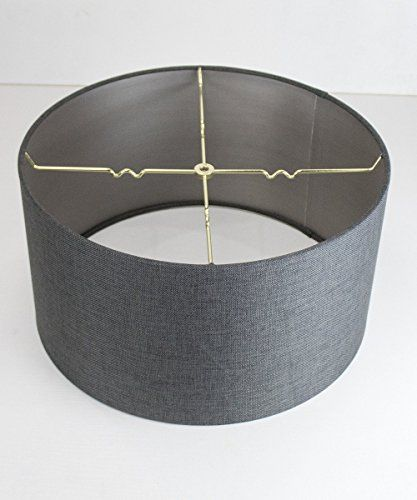18x18x10 Granite Grey Burlap Shallow Drum Lampshade With Brass Spider Fitter By Home Concept Perfect F Drum Lampshade Extra Large Lamp Shades Large Lamp Shade