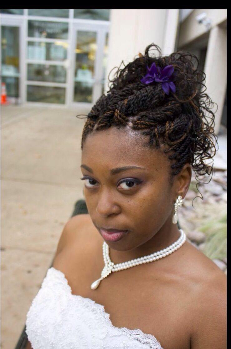 wedding updo. senegalese twists. » nonye hair braiding