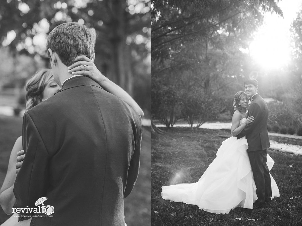 Bride and Groom Session at McComb Park, Hickory, NC in the evening ...