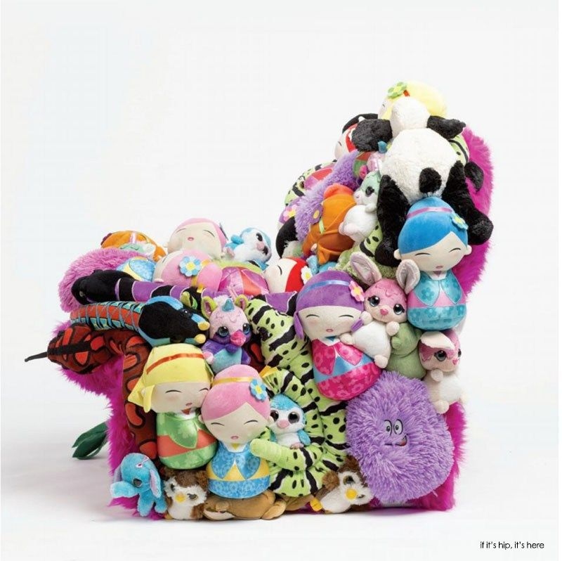 Vintage Chairs Embellished With Stuffed Animals   The AP Collection