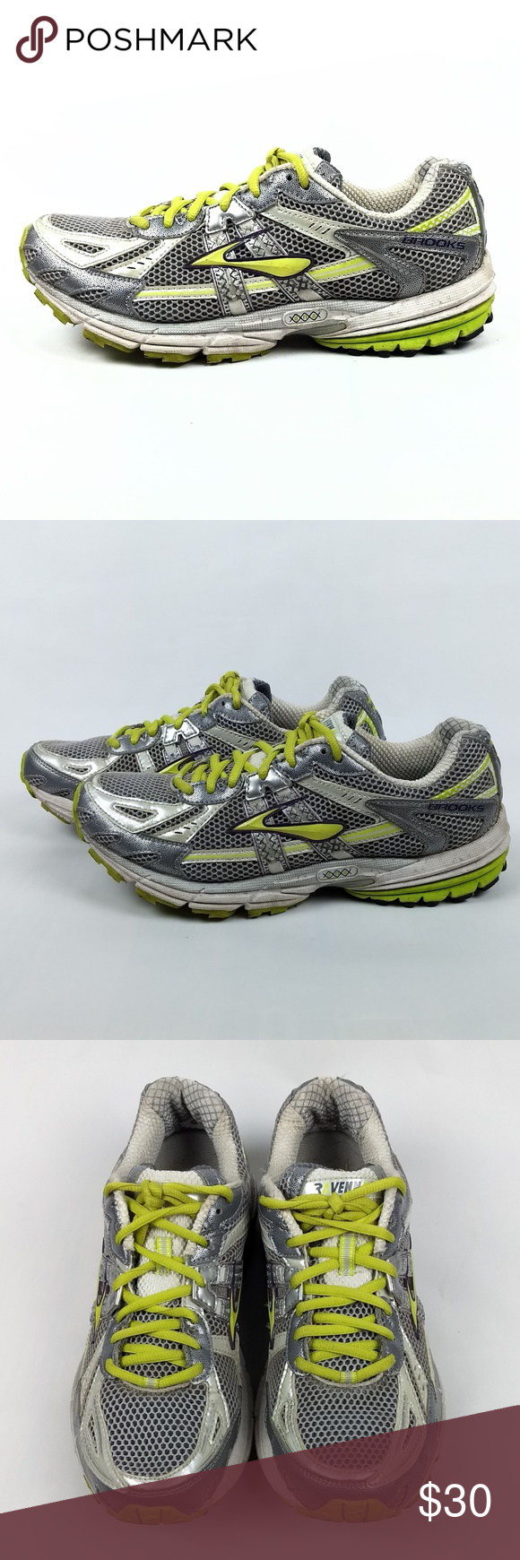 Brooks Ravenna 2 Running Shoes Size 10 5 Brooks Ravenna 2 Women S Athletic Running Shoes Model 1200831b893 Color Silver N Running Shoes Shoes Brooks Shoes