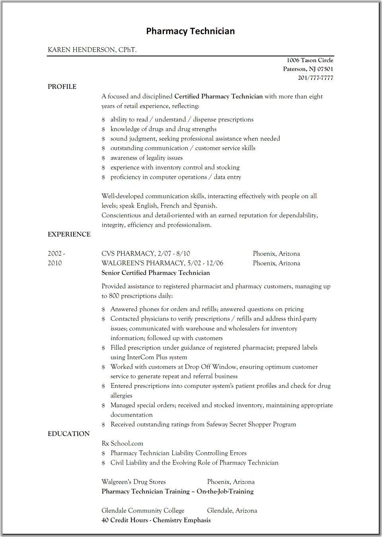 Pharmacist Resume Templatescareer Resume Template Career Resume Template