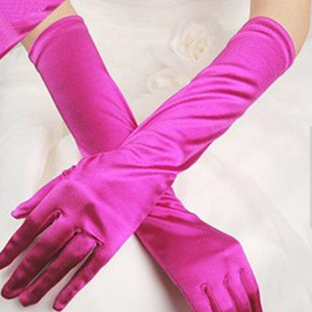 Ladies Womens Short Satin Style Gloves Red Party Wedding Fancy Dress Costume UK