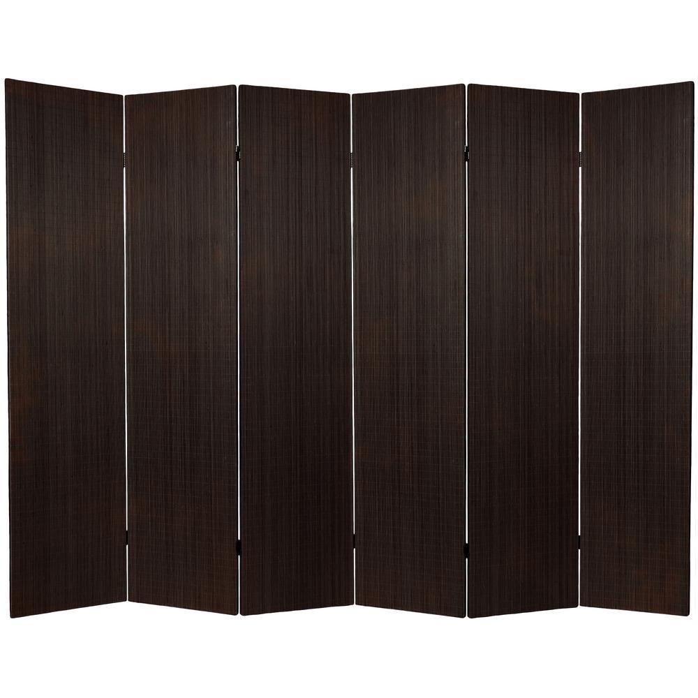 ft black framless bamboo panel room divider roomdividercloset