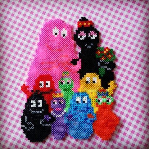 Barbapapa hama beads by KleurigDees