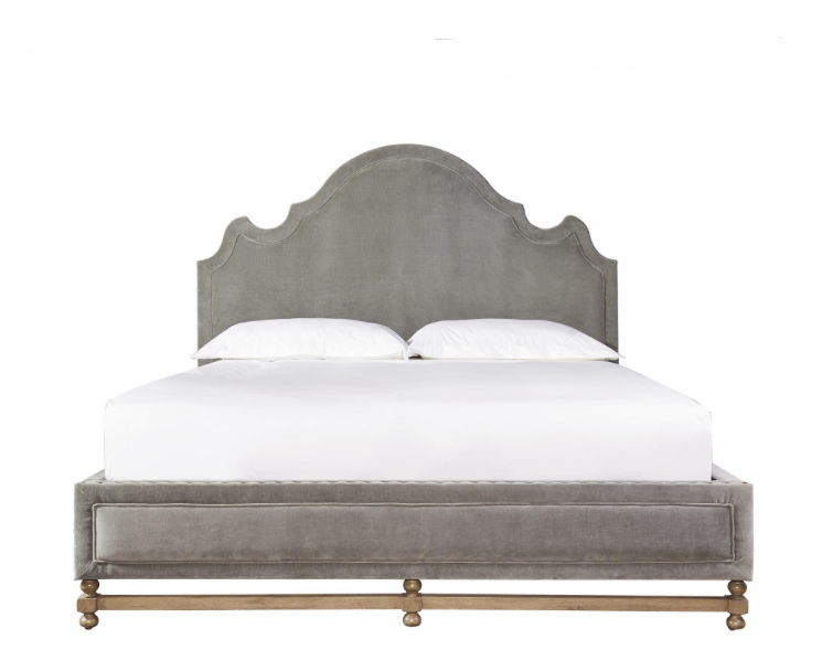 Gray Upholstered King Bed- 3 Hearts Style Furniture ...