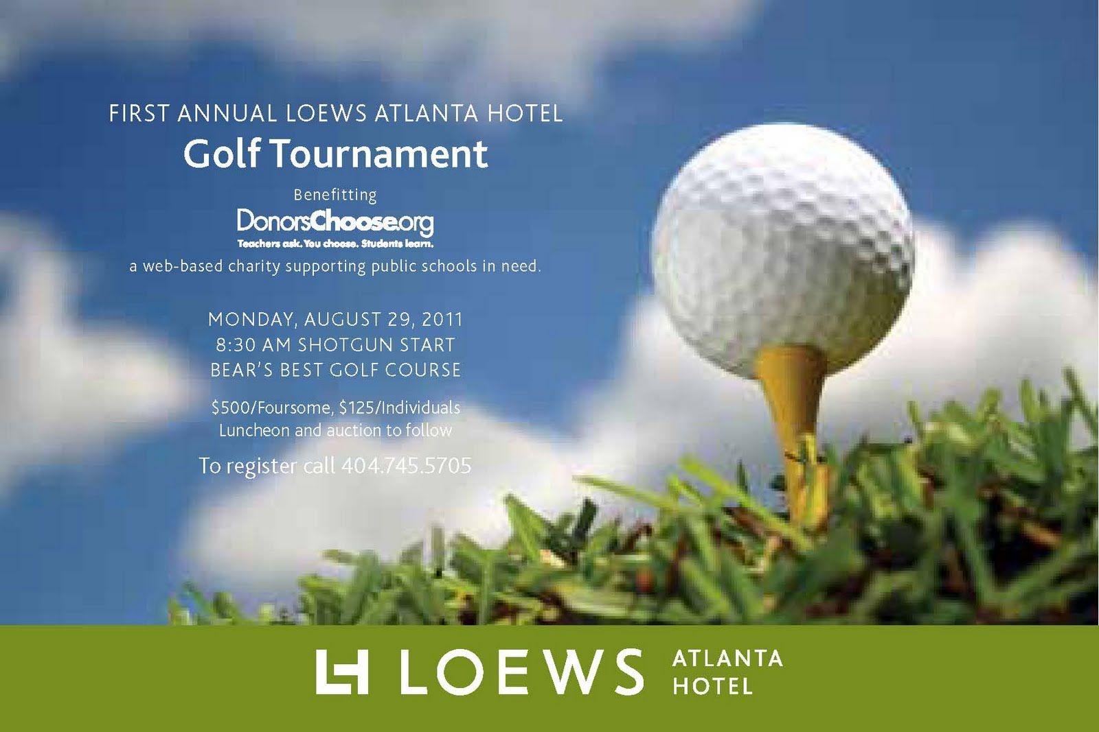 Golf Outing Flyer Invitation Template Golf Invitation Golf Tournament