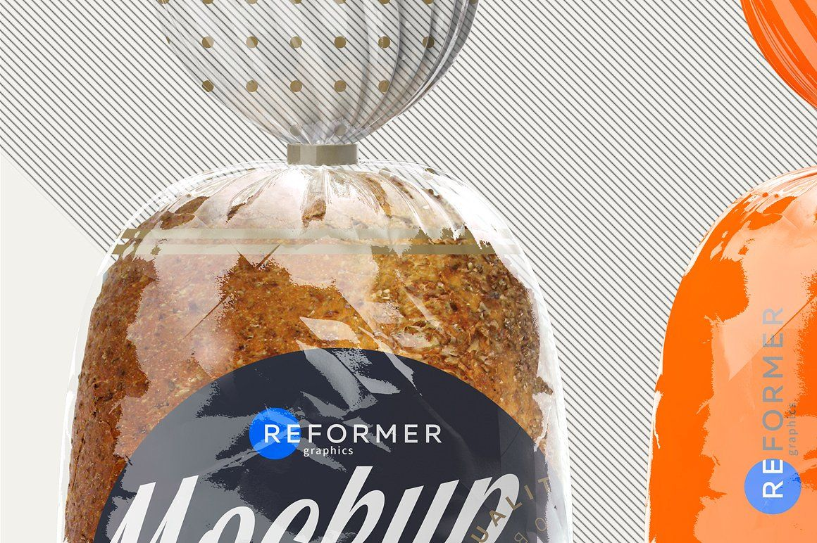 Download Three Transparent Bread Package Bread Packaging Packaging Mockup Creative Packaging