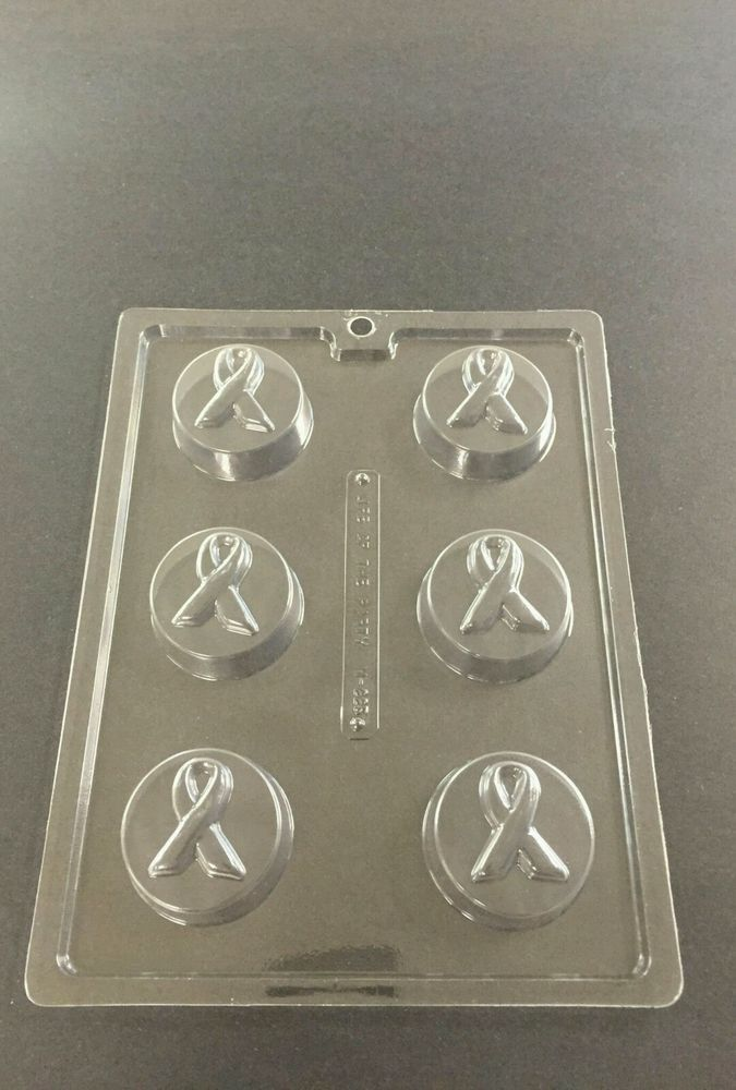 Breast cancer candy molds