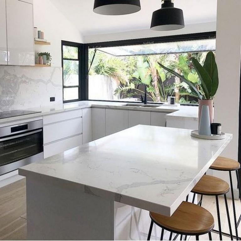 53+ Elegant U Shaped Kitchen Remodel Ideas | Modern ...