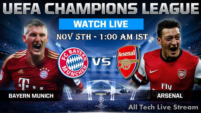 Watch Bayern Munich Vs Arsenal Live Stream Free Online 2015 With